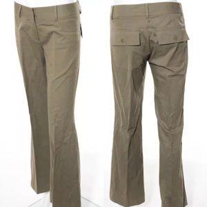 Theory Tan Brown Cotton Wide Leg Pants Size 4